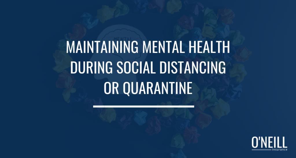 Mental Health Social Distancing
